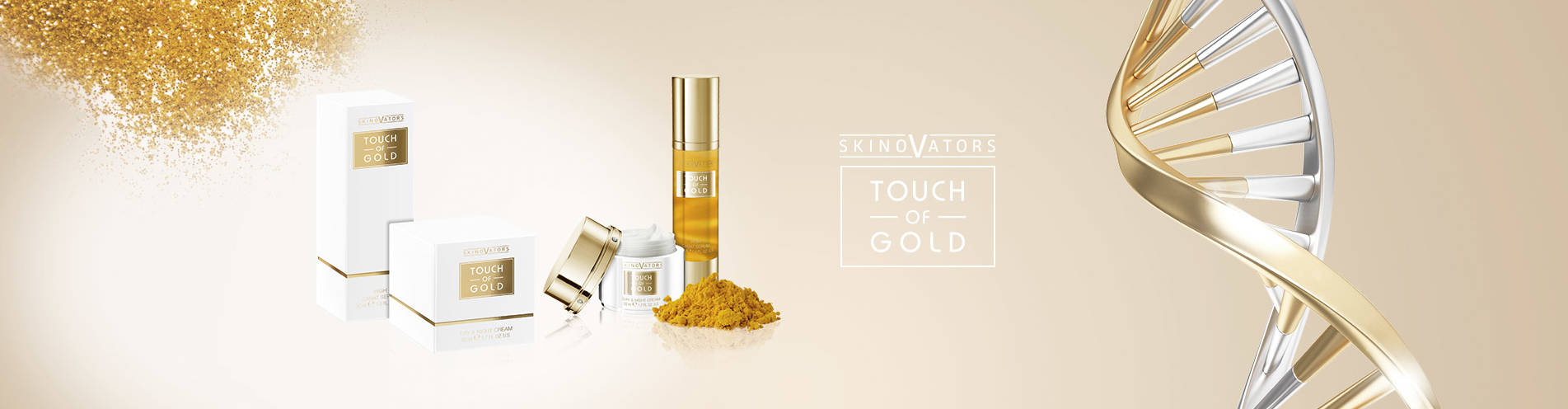 Your brand name or label on Gold Cosmetic Private Label Cosmetics German Manufacturer