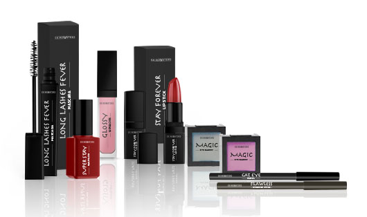 Private label decorative cosmetics products such as lipstick, lip gloss, mascara, nail polish and beauty tools.